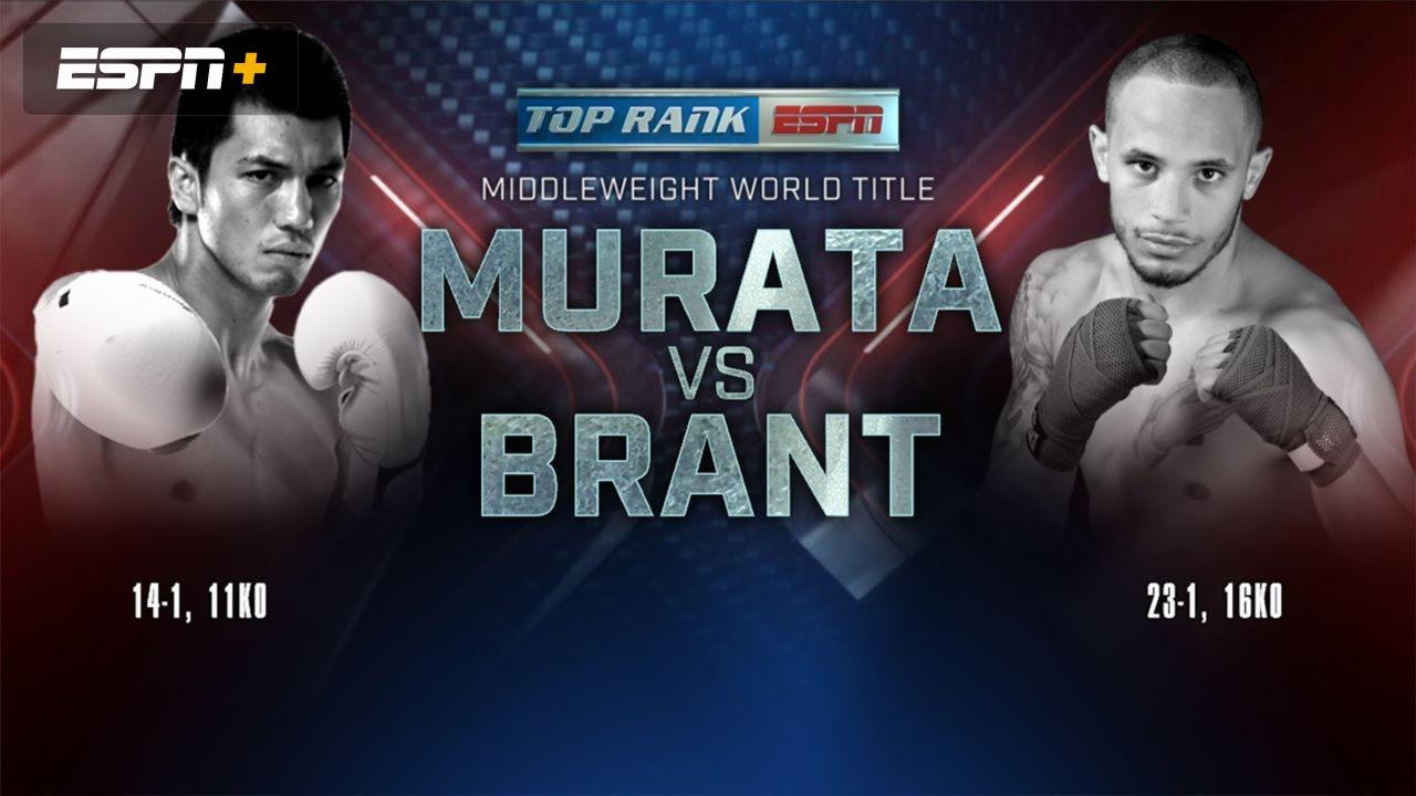 Top Rank Boxing On Espn Murata Vs Brant Weigh In Watch Espn