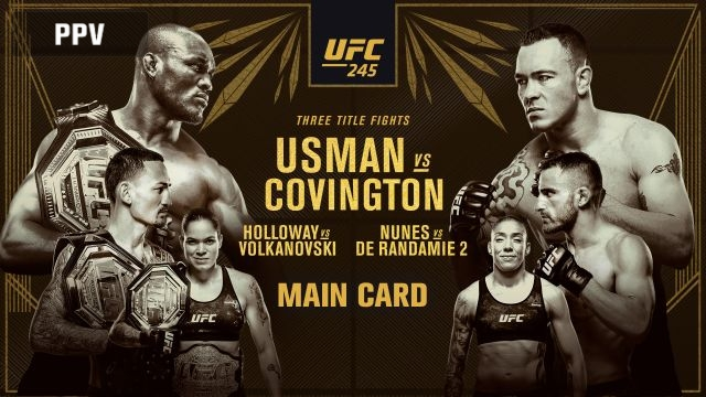 In Spanish - UFC 245: Usman vs. Covington (Main Card)