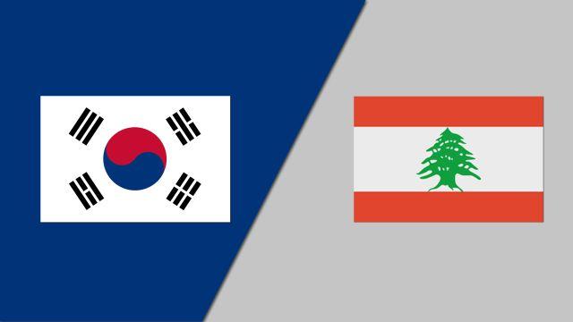 Korea vs. Lebanon (FIBA World Cup Qualifier)
