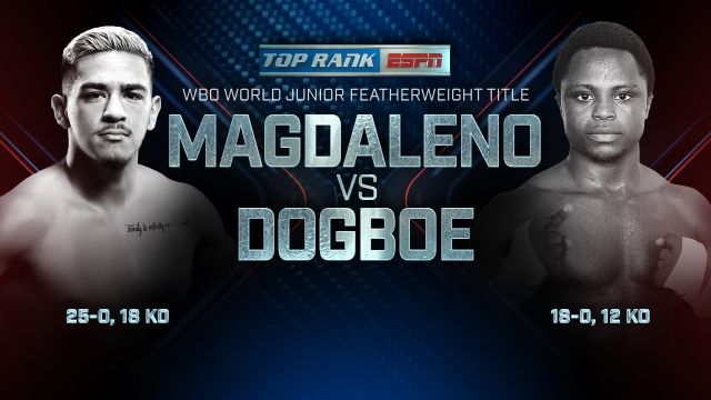 Top Rank Boxing on ESPN: Magdaleno vs. Dogboe  Weigh-In