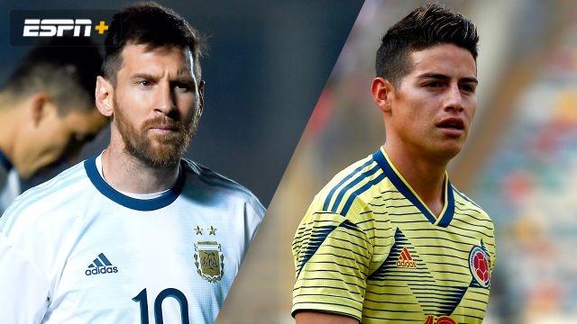 In Portuguese-Argentina vs. Colombia (Fase de Grupos) (Copa America)