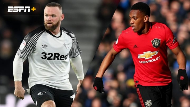 In Spanish-Derby County vs. Manchester United (5th Round) (FA Cup)