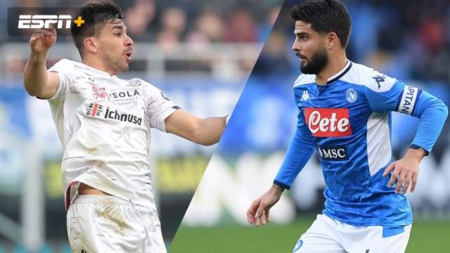 In Spanish-Cagliari vs. Napoli (Serie A)