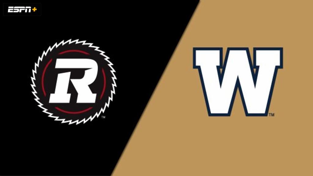 Ottawa Redblacks vs. Winnipeg Blue Bombers (Canadian Football League)