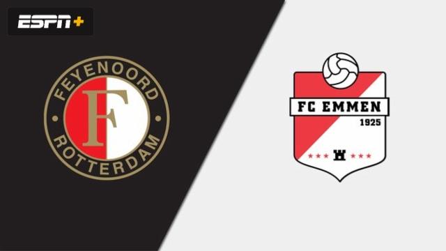 In Spanish-Feyenoord vs. FC Emmen (Eredivisie)