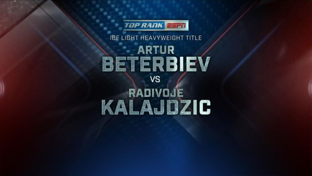 Top Rank Boxing on ESPN: Beterbiev vs. Kalajdzic Official Press Conference