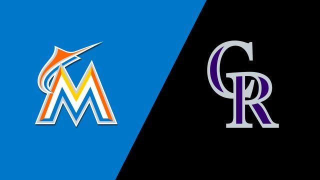 Miami Marlins vs. Colorado Rockies