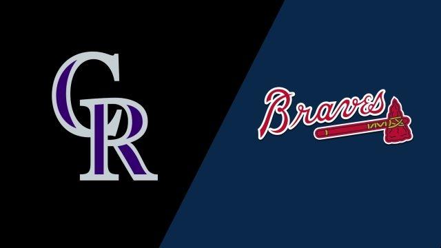Colorado Rockies vs. Atlanta Braves