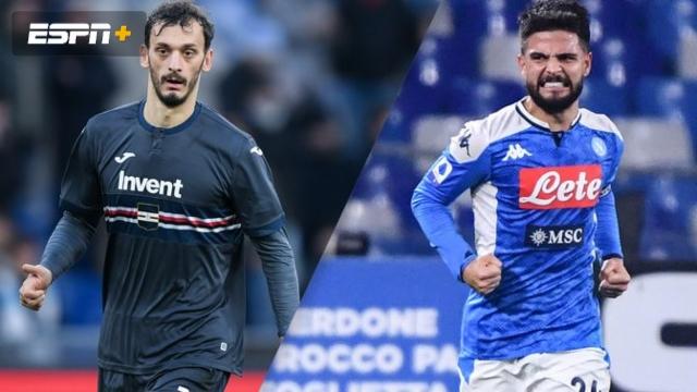 In Spanish-Sampdoria vs. Napoli (Serie A)