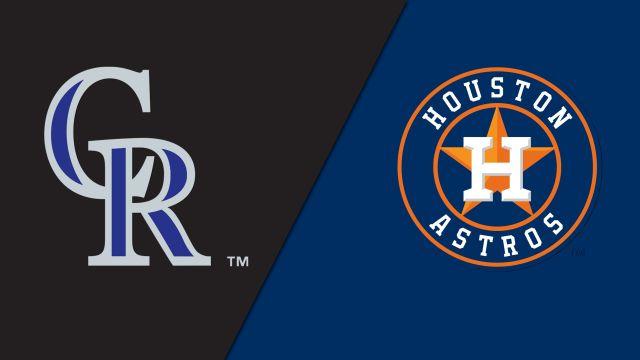 Colorado Rockies vs. Houston Astros