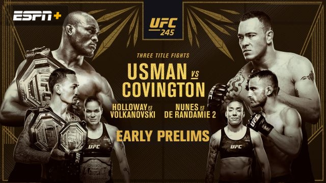 In Spanish - UFC 245: Usman vs. Covington (Early Prelims)