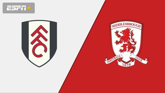 Fulham vs. Middlesbrough (English League Championship)