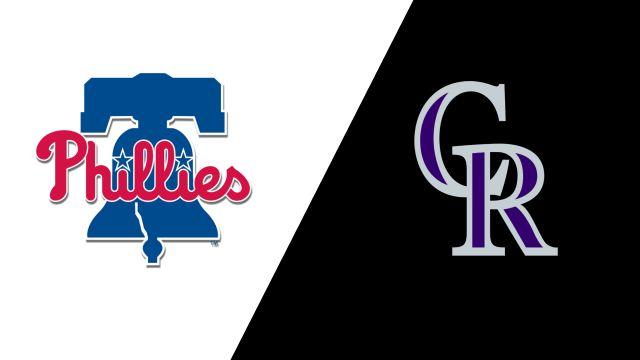 Philadelphia Phillies vs. Colorado Rockies