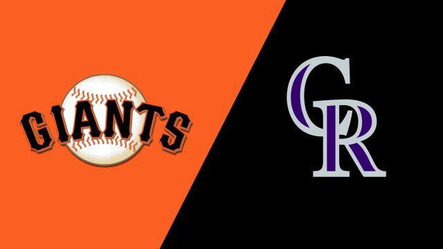 San Francisco Giants vs. Colorado Rockies