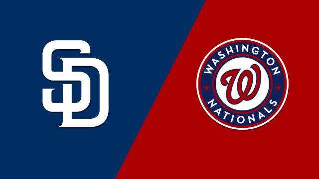 San Diego Padres vs. Washington Nationals