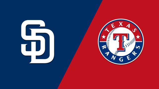 San Diego Padres vs. Texas Rangers