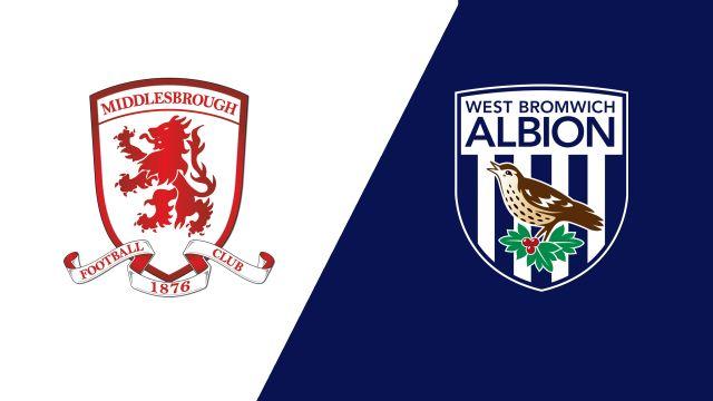 Middlesbrough vs. West Bromwich Albion (English League Championship)