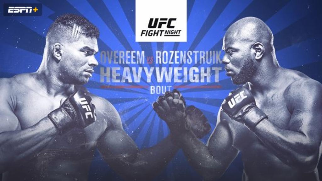 UFC Fight Night: Overeem vs. Rozenstruik (Early Prelims)
