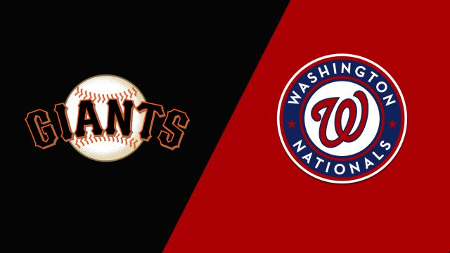 San Francisco Giants vs. Washington Nationals