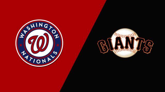 Washington Nationals vs. San Francisco Giants