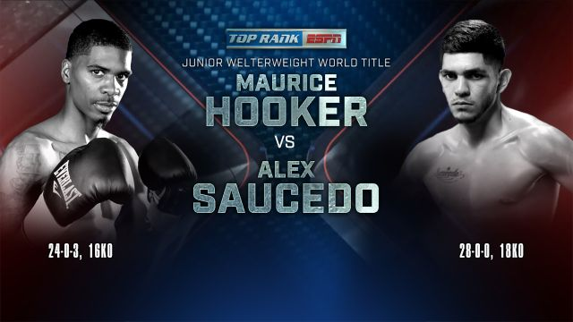 Top Rank Boxing on ESPN: Hooker vs. Saucedo Weigh-In