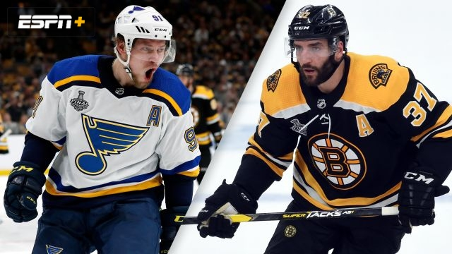 In French-St. Louis Blues vs. Boston Bruins (Game #2)