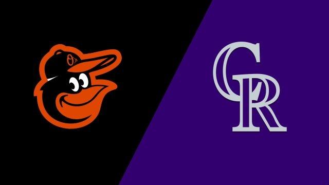 In Spanish-Baltimore Orioles vs. Colorado Rockies