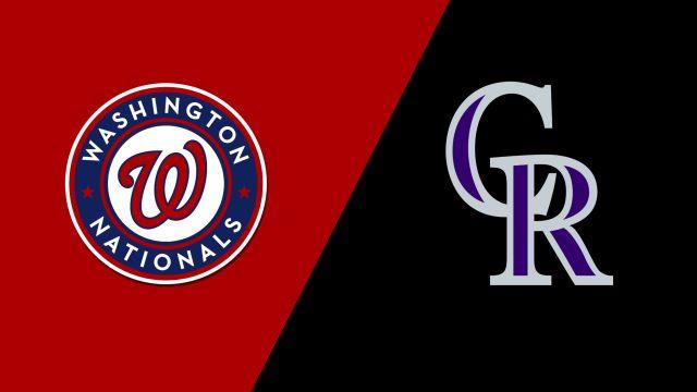 Washington Nationals vs. Colorado Rockies