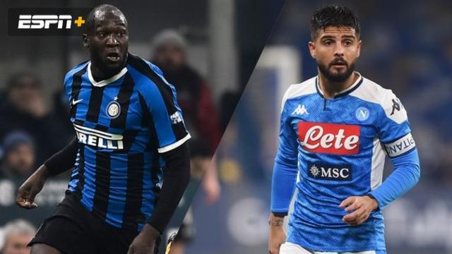 In Spanish-Inter vs. Napoli (Semifinal - Partido de Ida) (Coppa Italia)