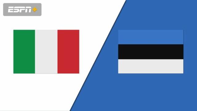 Italy vs. Estonia
