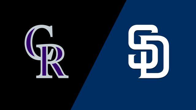 Colorado Rockies vs. San Diego Padres