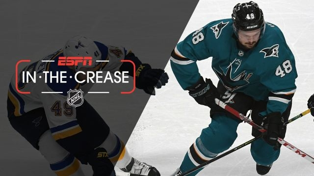 Thu, 5/16 - In the Crease: Sharks, Blues need OT in Game 3