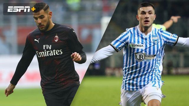 In Spanish-AC Milan vs. SPAL (Octavos de Final) (Coppa Italia)