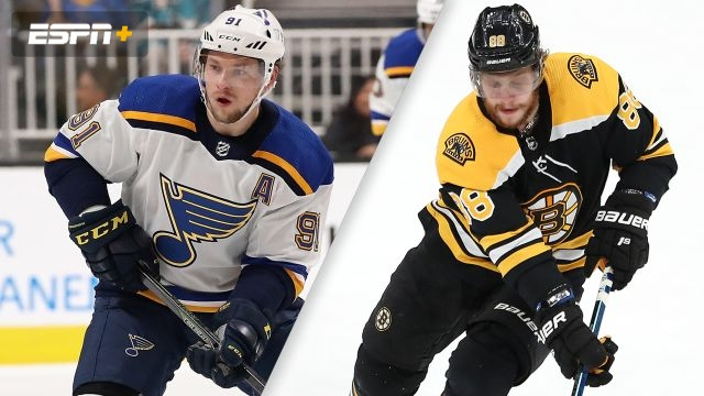 In French-St. Louis Blues vs. Boston Bruins (Game #1)