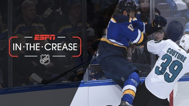 Mon, 5/20 - In the Crease: Blues, Sharks vie for series lead
