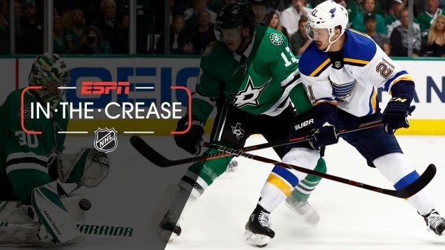 Tue, 4/30 - In the Crease: Blues-Stars battle in a back-and-forth game