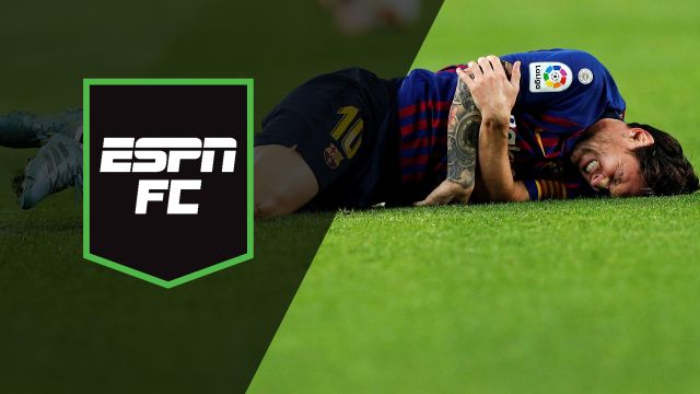 Sun, 10/21 - ESPN FC: Messi to miss El Clasico