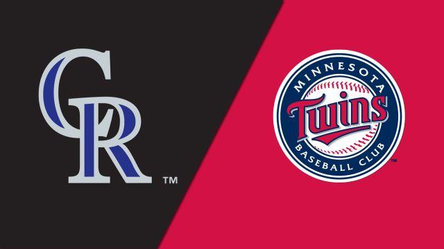 Colorado Rockies vs. Minnesota Twins