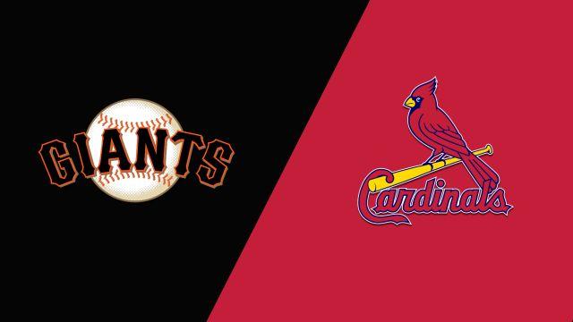 In Spanish-San Francisco Giants vs. St. Louis Cardinals