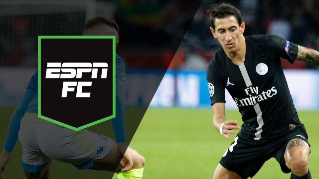 Wed, 10/24 - ESPN FC: PSG-Napoli play to draw