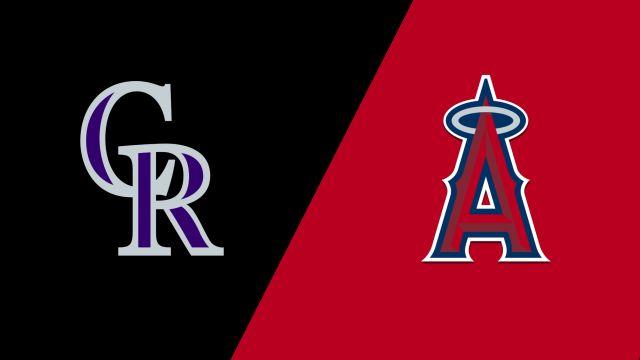 Colorado Rockies vs. Los Angeles Angels