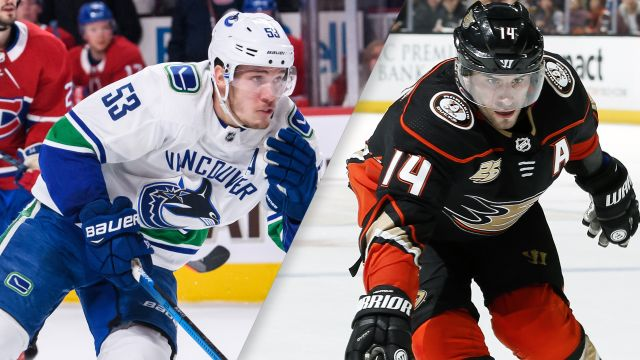 Vancouver Canucks vs. Anaheim Ducks