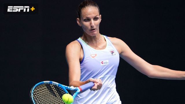 (2) Pliskova vs. Mladenovic (Women's First Round)