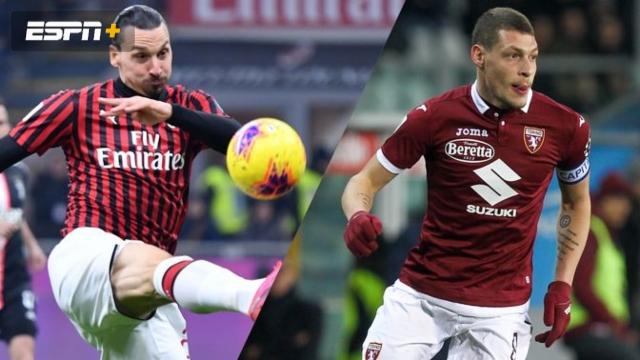 In Spanish-AC Milan vs. Torino (Serie A)