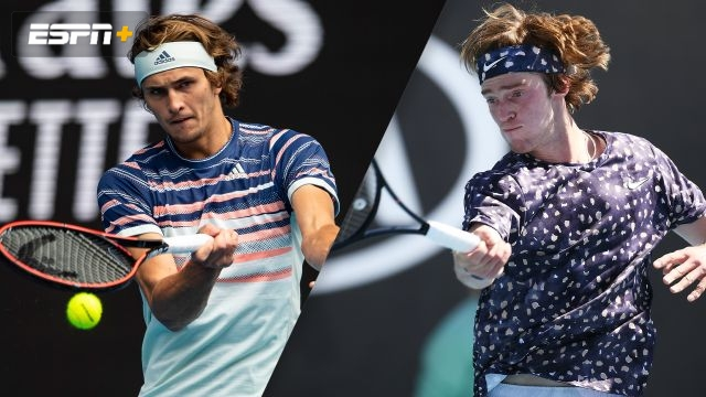 (7) Zverev vs. (17) Rublev (Men's Fourth Round)