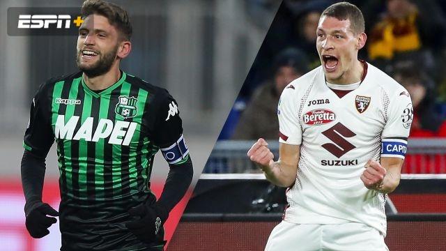 In Spanish-Sassuolo vs. Torino (Serie A)