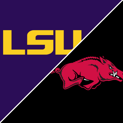 Sec Football Lsu Tigers Vs Arkansas Razorbacks Box